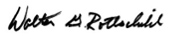 Walter G. Rothschild Signature - England Furniture Suppliers