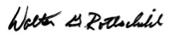 Walter G. Rothschild Signature - England Furniture Suppliers