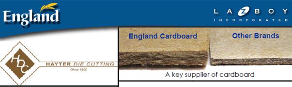 Hayter Die Cutting Banner - England Furniture Company Suppliers