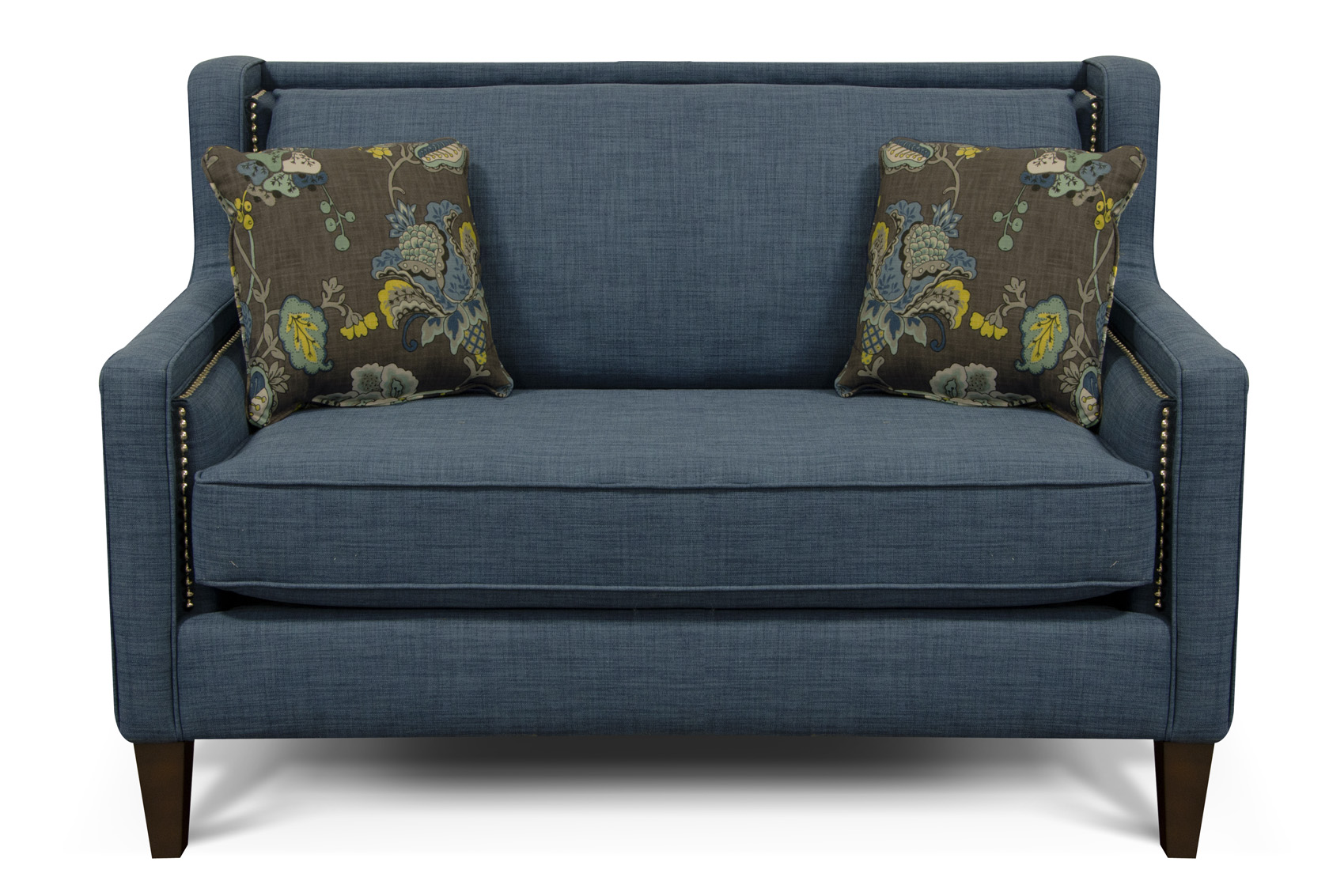 england-furniture-reviews-Roma-Blue-Leopold-Aquamarine-loveseat